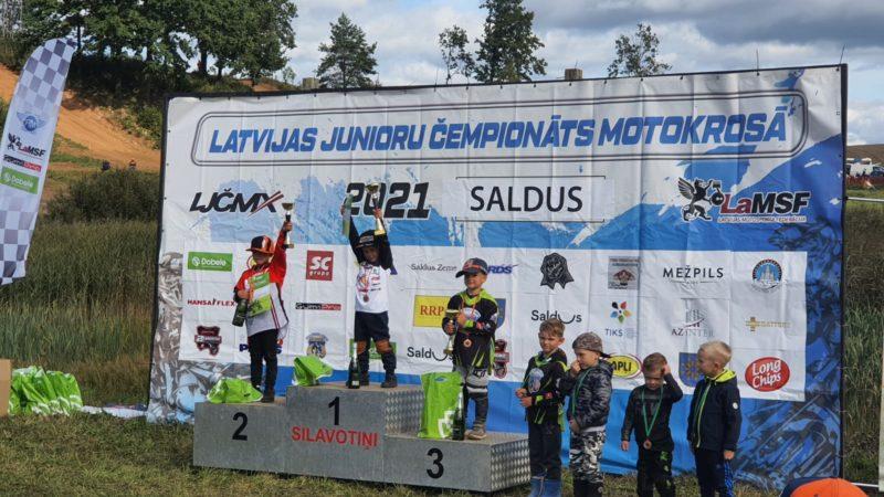 Latvijas 5. Latvijas Junioru čempionātā startēja 3 moto pulciņa dalībnieki
