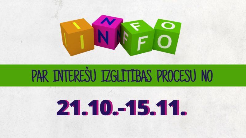 Interešu izglītības procesa organizēšana no 21.oktobra līdz 15.novembrim
